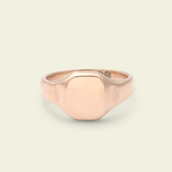 WW1 Era Rose Gold Signet Ring