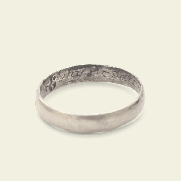"""Thy desart hath no on my <3"" Silver Poesy Ring"