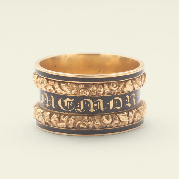 1822 Gothic Revival Mourning Ring for Richard Jeyes