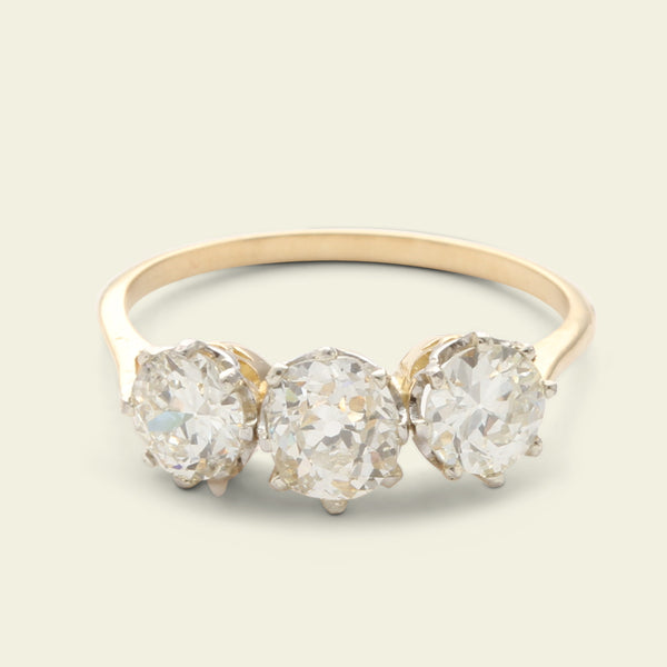 Midcentury 1.69ctw Diamond Trilogy Ring