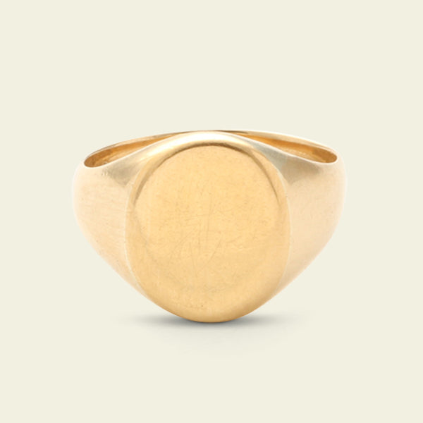 Midcentury English Signet Ring