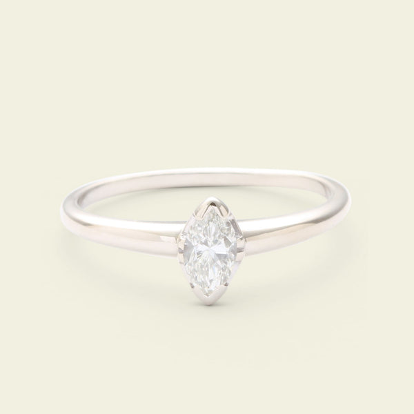 Vintage .30ct Marquise Cut Diamond Solitaire