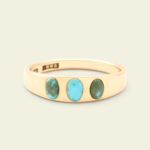 Victorian Turquoise Three Stone Ring