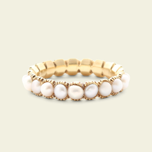 Georgian Pearl Eternity Ring