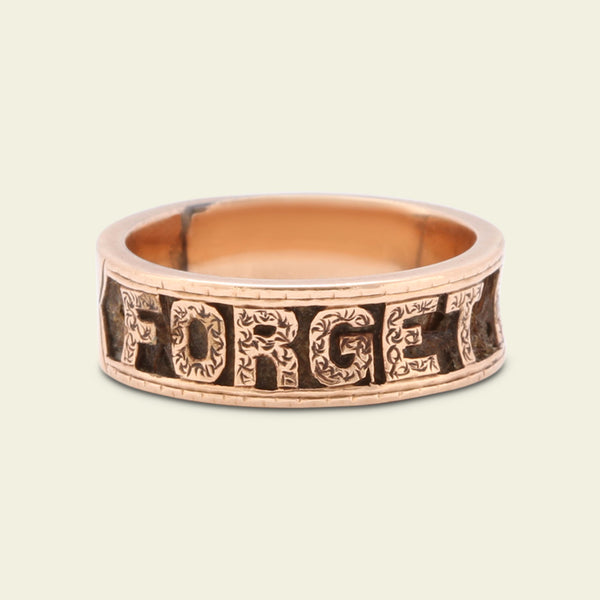 "Victorian ""Forget Me Not"" Mourning Ring"