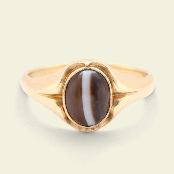 Victorian Banded Agate Ring
