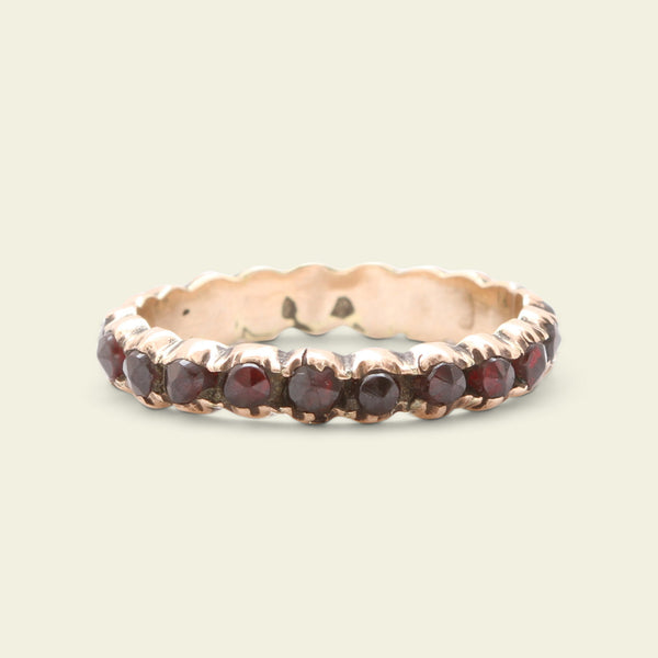 Early 19th Century Bohemian Garnet Eternity Ring