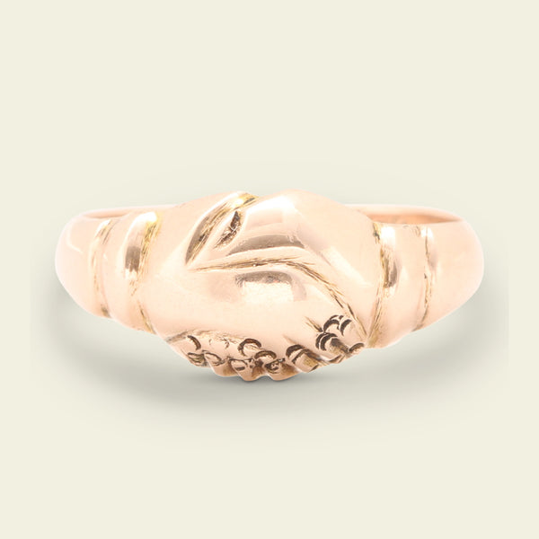 "Victorian ""Keets Minee"" Rose Gold Fede Ring"