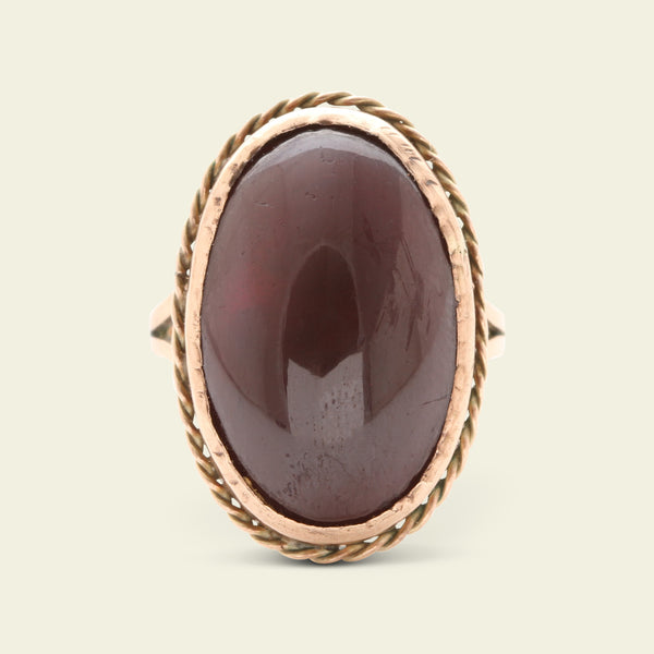 Georgian Carbuncle Ring
