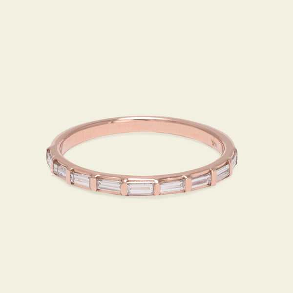 Diamond Baguette Band (Rose Gold)
