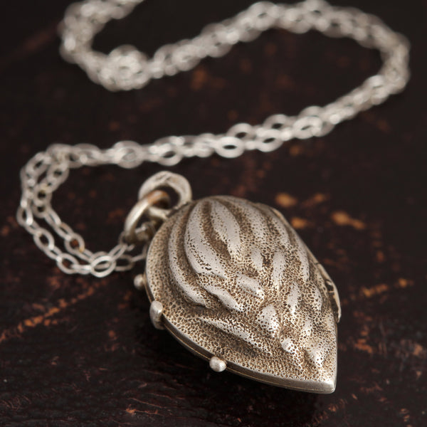 Antique Silver Almond Locket