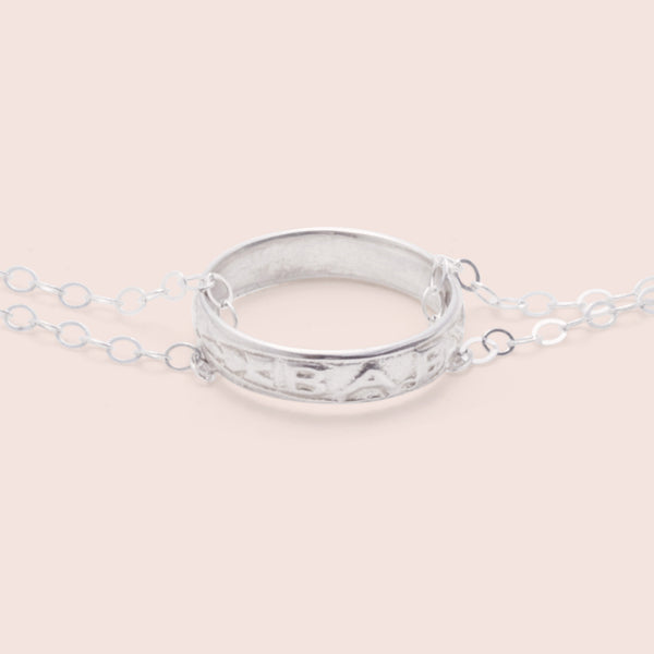 Baby Ring Necklace (Silver)