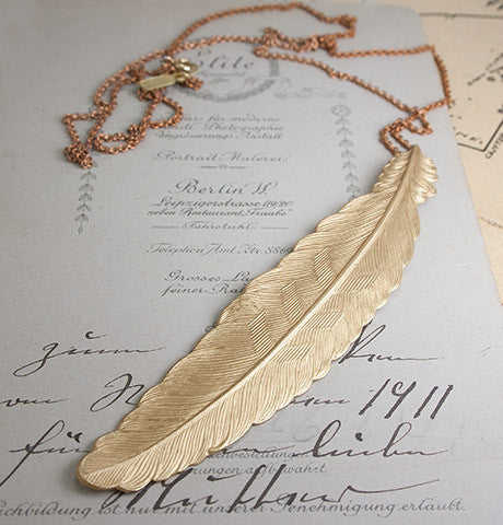 Giant Feather Necklace
