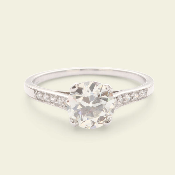 1930s 1.32ct Old European Cut Diamond Engagement Ring