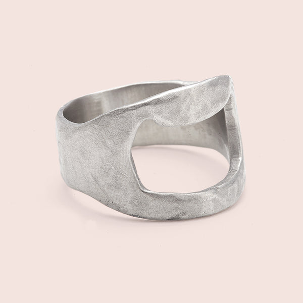 Bottle Opener Ring (white Bronze)