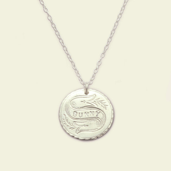 Customizable Love Token Necklace (Silver)