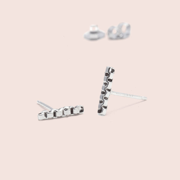 Chain Line Earrings (silver)