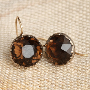 Georgian Burnt Sienna Earrings
