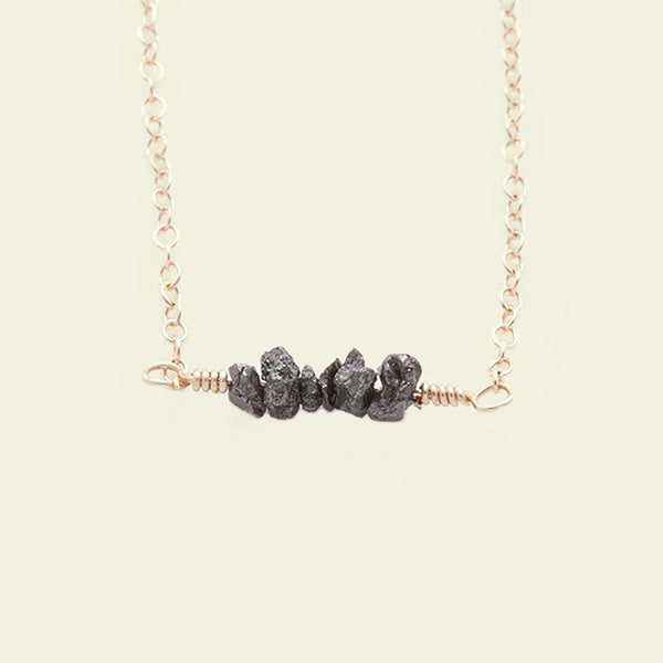 Diamondz & Pearlz Necklace (Black Diamondz)