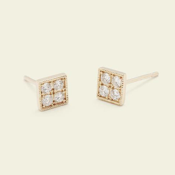 Checkerboard Earrings (Diamond)
