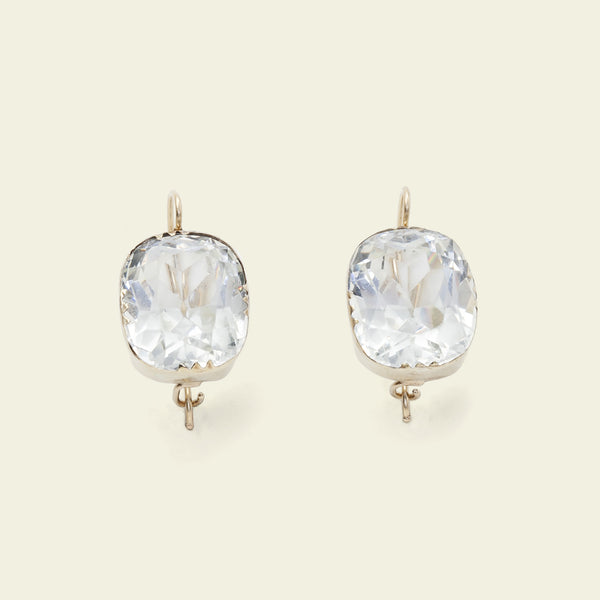 Early 20th Century Rock Crystal Earrings