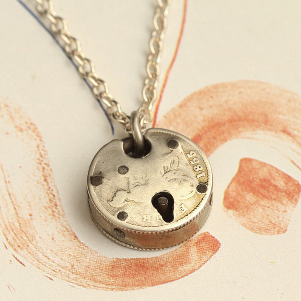 Victorian Coin Padlock Necklace