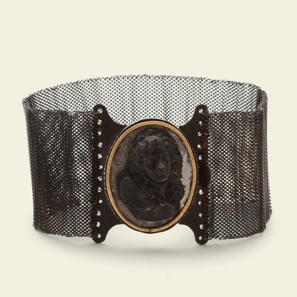 Berlin Iron Bracelet with Eros Centocelle Cameo