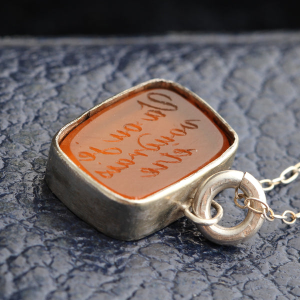 "Early 19th Century French ""Go Where I Wish to Go"" Carnelian Intaglio Seal"