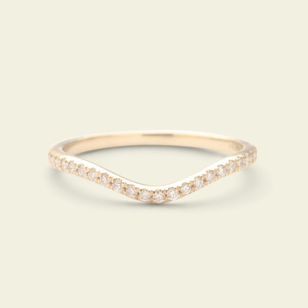 Diamond Half Eternity Curve Band