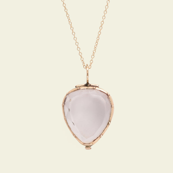 Georgian Faceted Rock Crystal Heart Locket - 2nd deposit