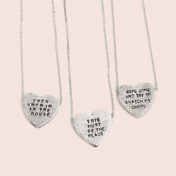 <3 Heartbeats Necklaces (Oxidized Silver Plate)