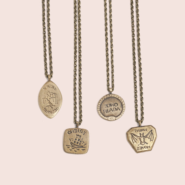 Intaglio Necklaces (Brass)