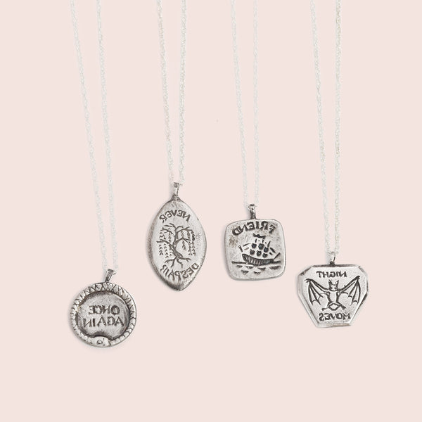 Intaglio Necklaces (Silver)