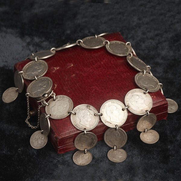 Mid Victorian Coin Bracelet