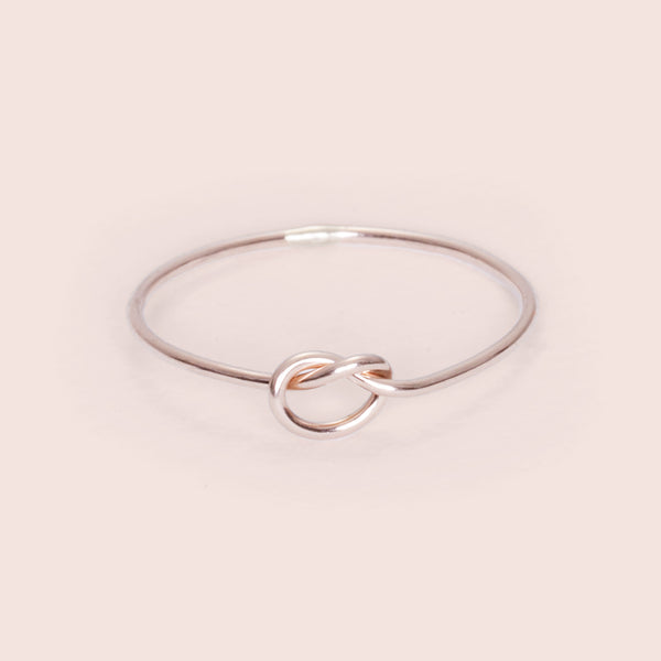 Knot Really Ring (rose gold fill)