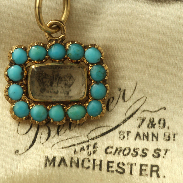 Early Victorian Turquoise Locket