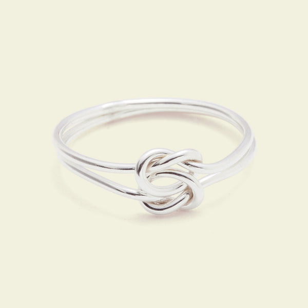 Lover's Knot Ring (silver / 14k white gold)