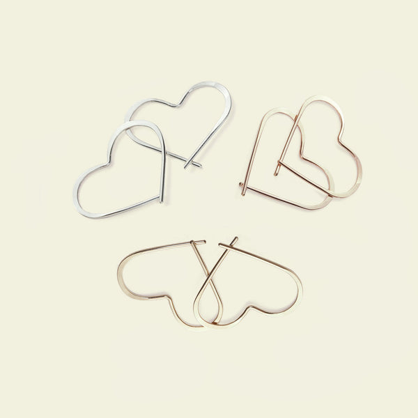 Mini Heart Hoops
