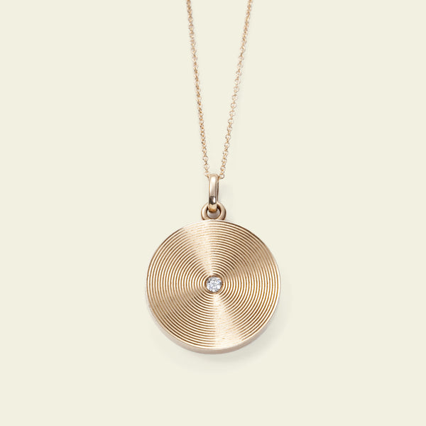 Edwardian Concentric Circles Locket Necklace