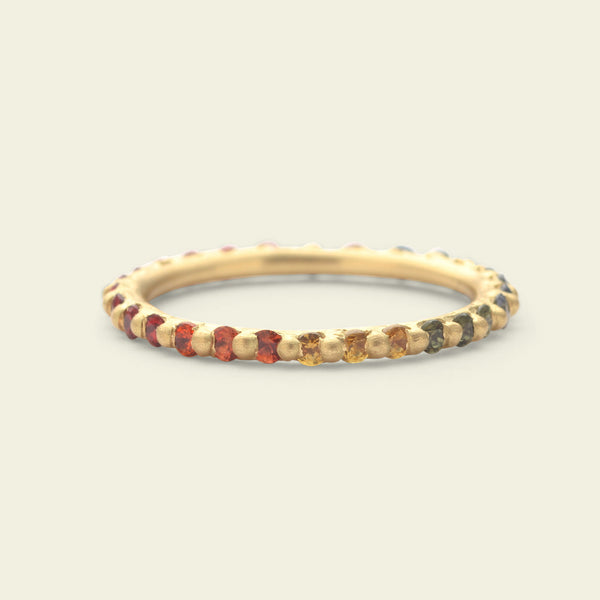 Rainbow Narrow Eternity Ring