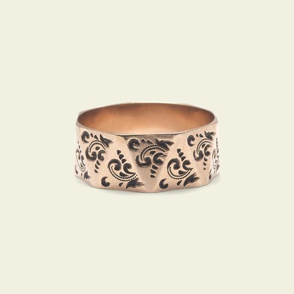 Victorian Rose Gold Faceted Band -- 2nd deposit