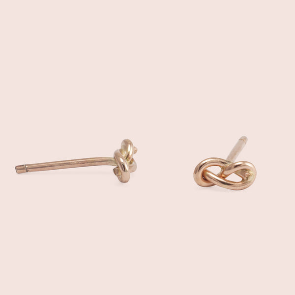 Infinity Knot Studs (Rose)