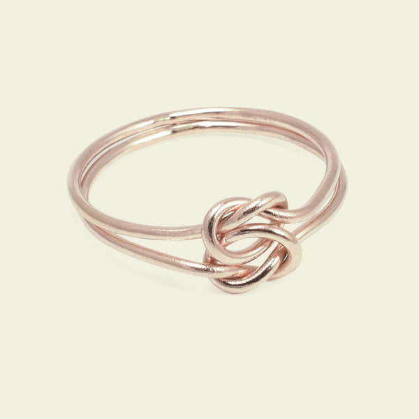 Lover's Knot Ring (14k Rose gold)