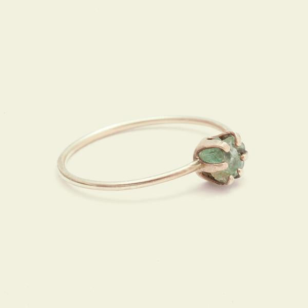 Rough Gem Ring (Emerald 14k)