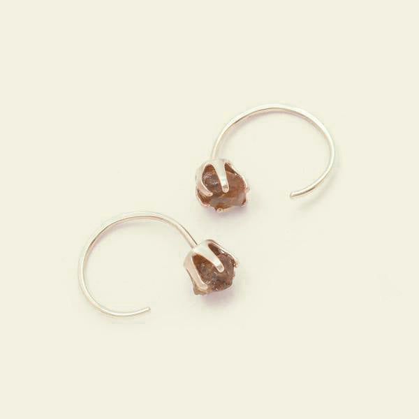 Rough Gem Half-hoops (Garnet 14k)