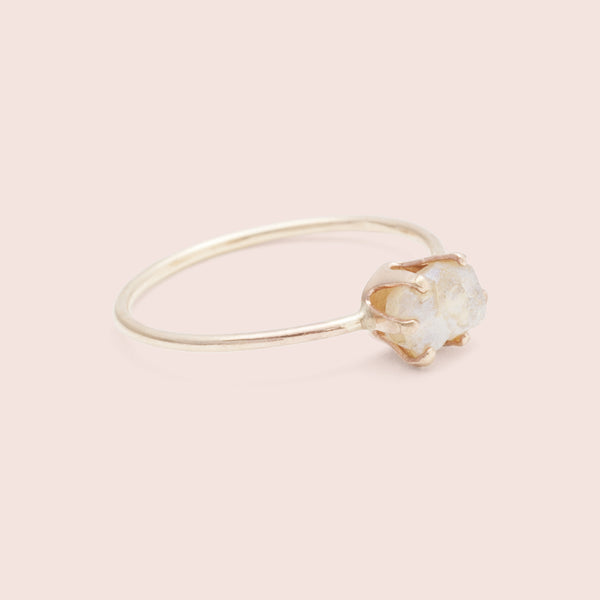 Rough Gem Ring (Moonstone)