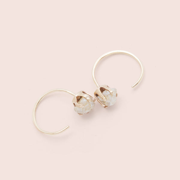 Rough Gem Half-hoops (Moonstone)