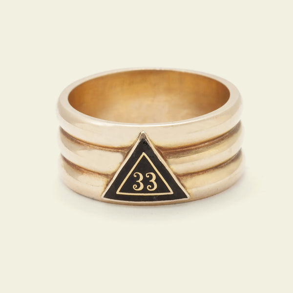 """Deus Meunque Jus"" Freemasons Ring"