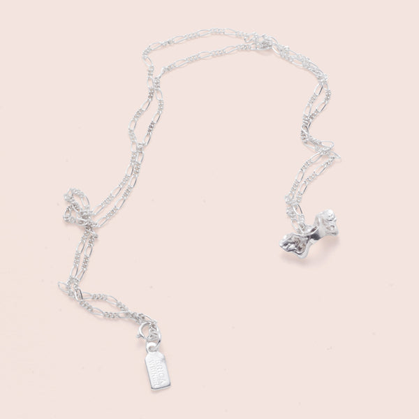 Pelvis Bone Necklace (silver)