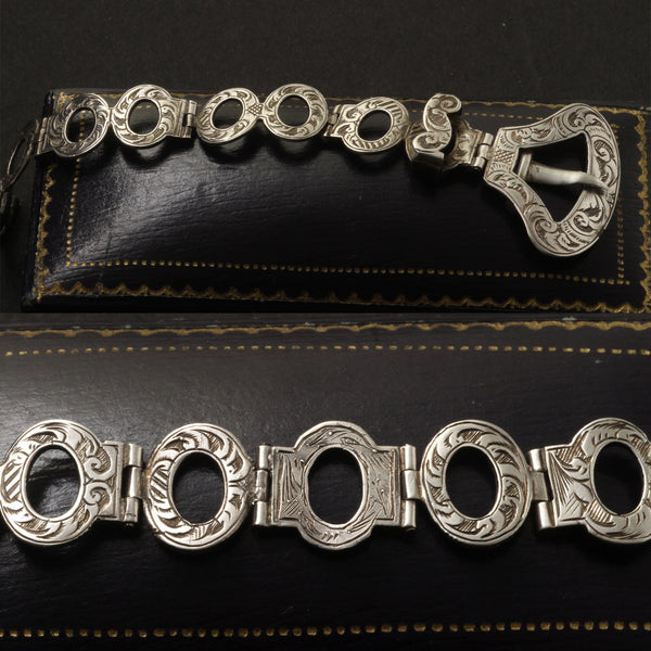 Scottish Silver Belt Bracelet